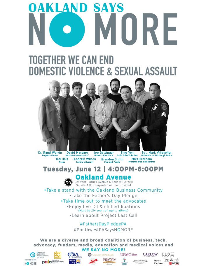 Oakland Says No More Pledge Event. Save the Date, Tuesday June 12 at 4pm.